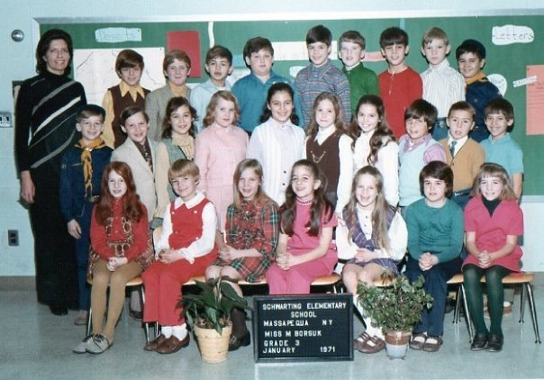 Jamie (Blue sweater vest, second row)
